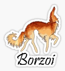 Red Borzoi Sticker