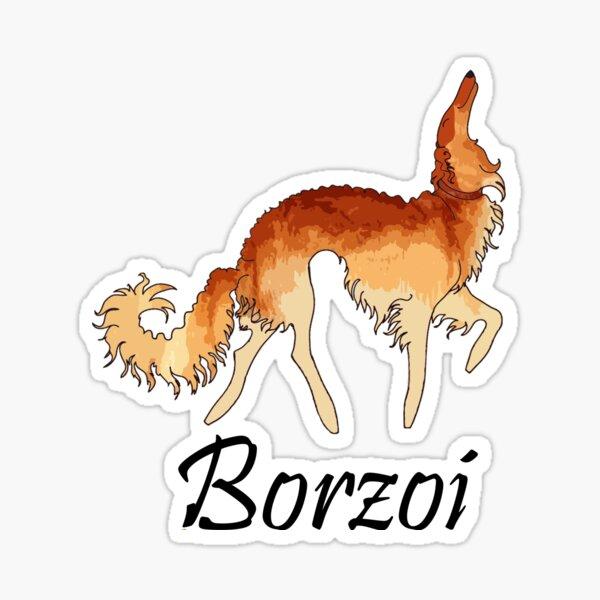 Red Borzoi Sticker