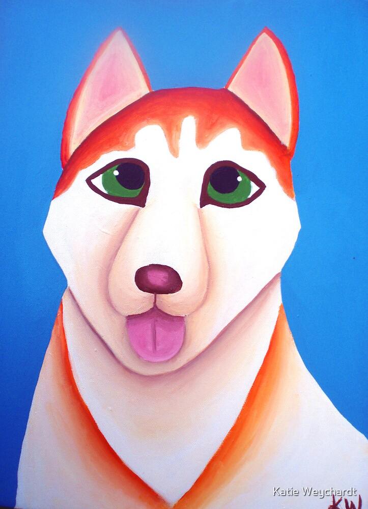 Breeze the Siberian Husky by Katie Weychardt