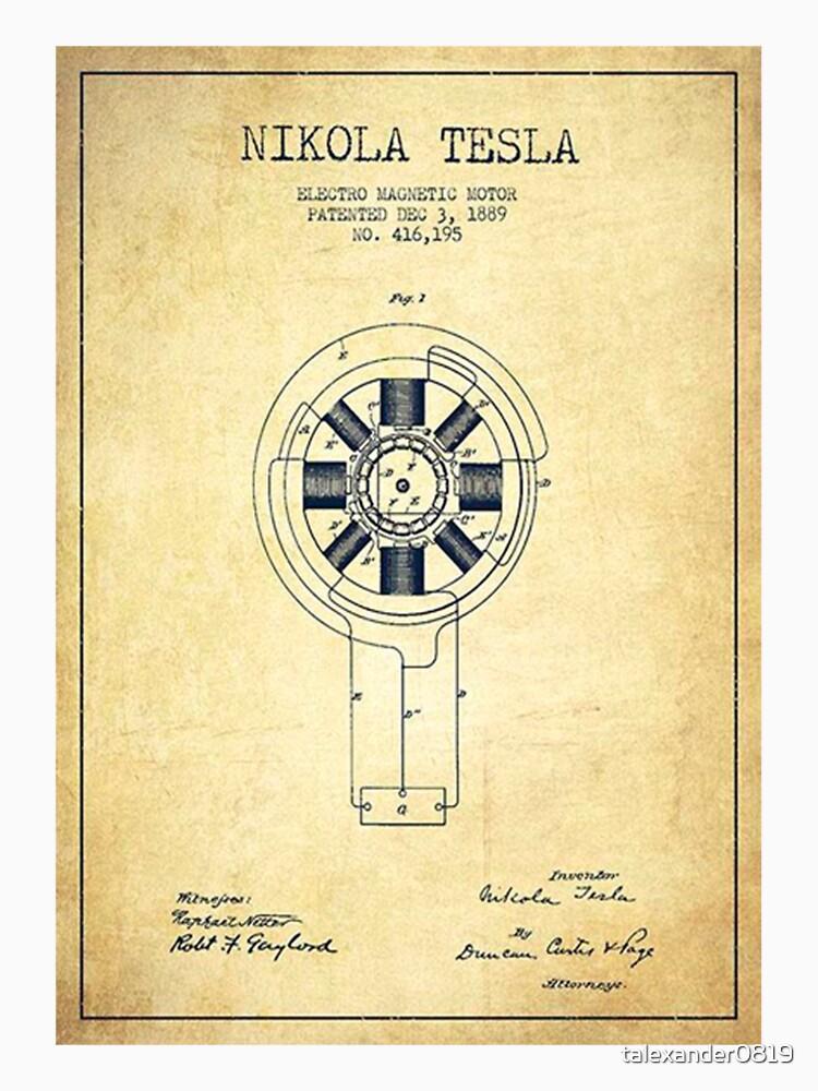 Nikola Tesla Inventor Shirt by talexander0819
