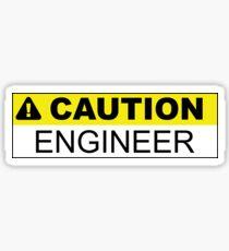 Caution Engineer Sticker Sticker
