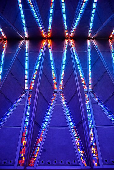 Air Force Chapel Interior Study 9  by Robert Meyers-Lussier