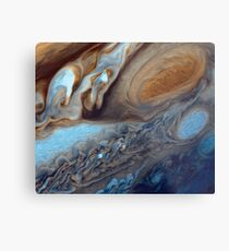 Closeup of the great red spot on Jupiter, space exploration Metal Print