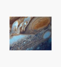 Closeup of the great red spot on Jupiter, space exploration Art Board