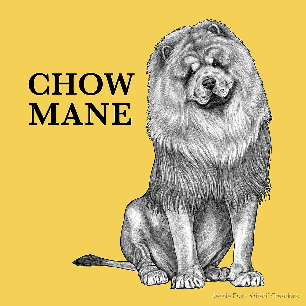 Chow Mane, Chow Chow + Lion Hybrid Animal by Jessie Fox - Whatif Creations