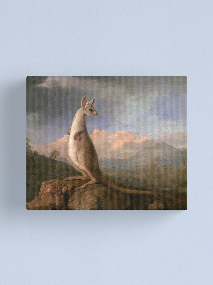 Alternate view of The Kongouro Oil Painting by Australian Artist George Stubbs Canvas Print