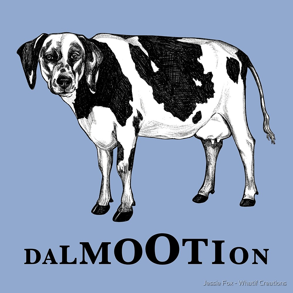 Dalmootion, Dalmatian + Cow Hybrid Animal by Jessie Fox - Whatif Creations