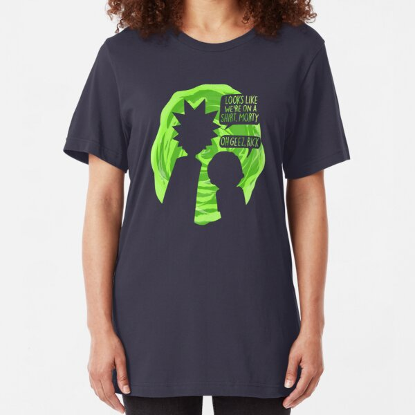 Oh Geez Rick Slim Fit T-Shirt