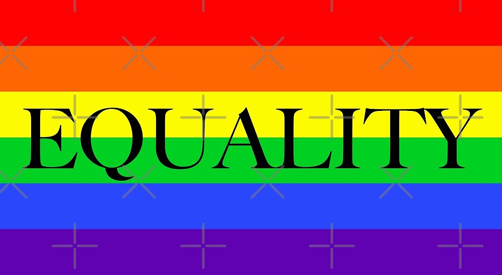 Large Pride Flag with Equality by litmusician