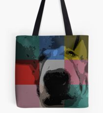 Think Outside The Square - Bull Terrier Dog Tote Bag