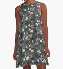 Black Crow and Butterflies A-Line Dress