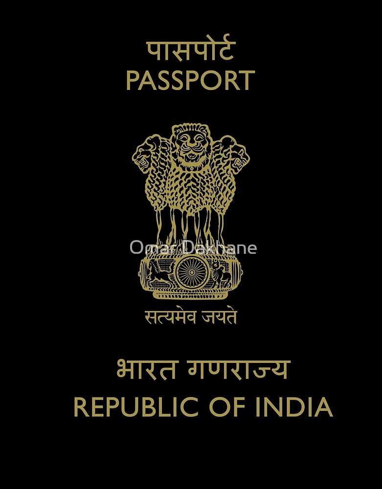 Indian Passport भारतीय पासपोर्ट (Fashion Design) by Omar Dakhane
