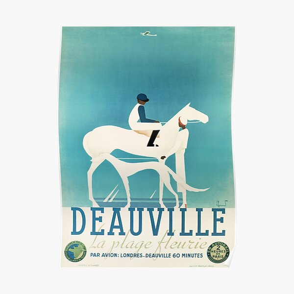 Art Deco Horse Racing, Greyhound Racing, vintage sport Poster