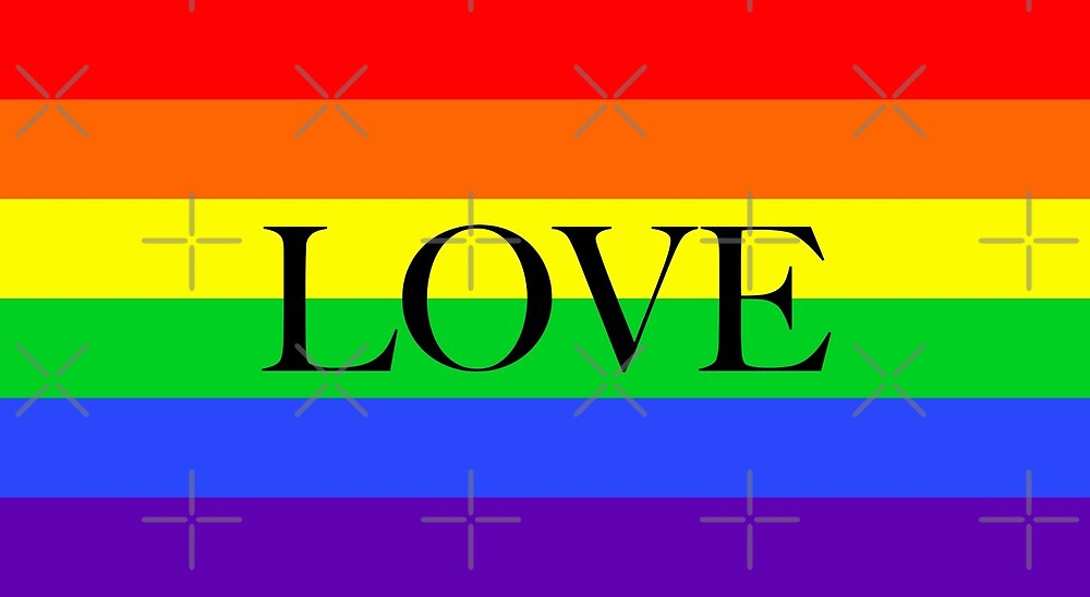 Large Pride Flag with Love by litmusician