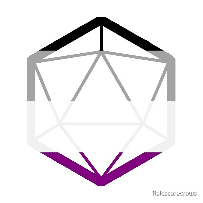 D20 Asexual flag by fieldscarecrows