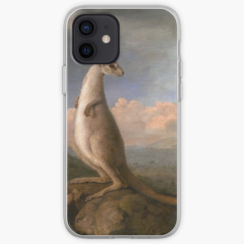 The Kongouro Oil Painting by Australian Artist George Stubbs iPhone Case & Cover