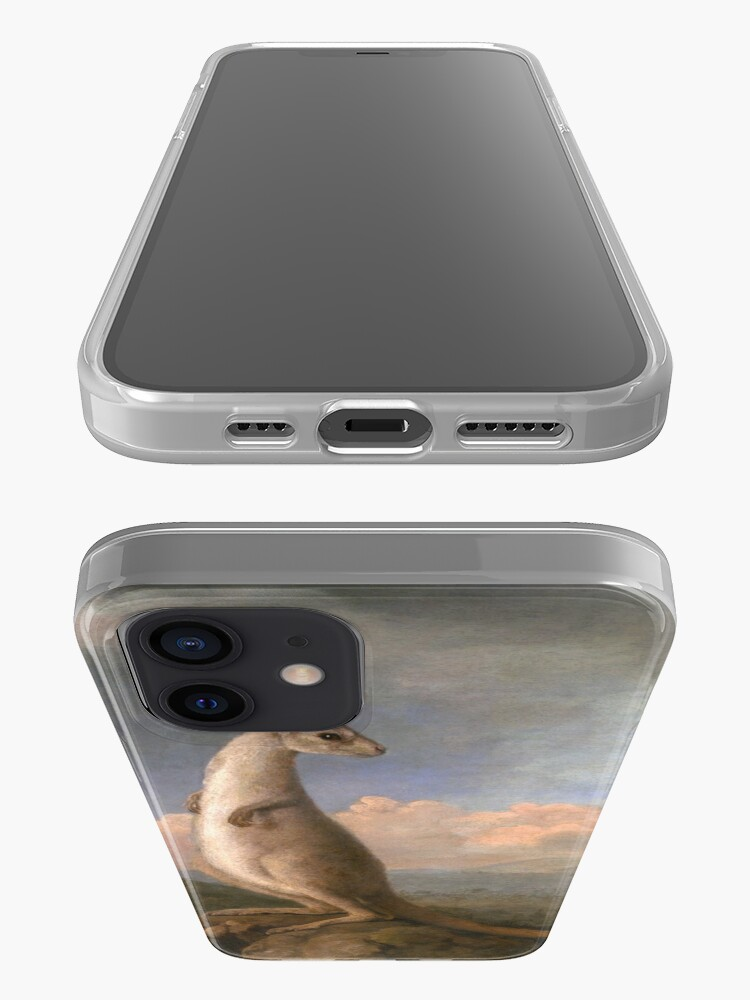 Alternate view of The Kongouro Oil Painting by Australian Artist George Stubbs iPhone Case & Cover