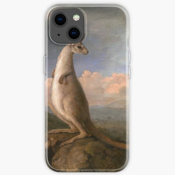 The Kongouro Oil Painting by Australian Artist George Stubbs iPhone Soft Case