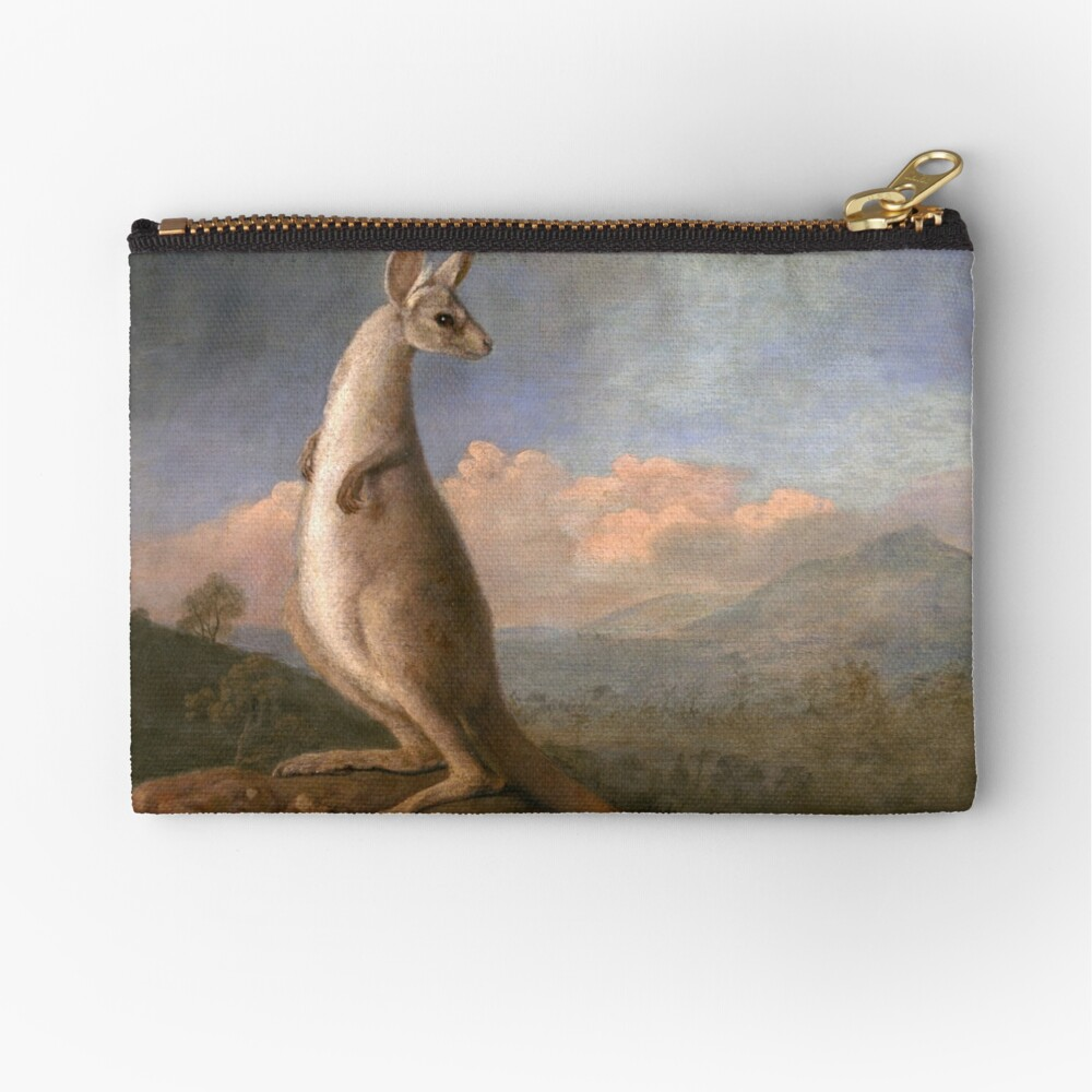 The Kongouro Oil Painting by Australian Artist George Stubbs Zipper Pouch