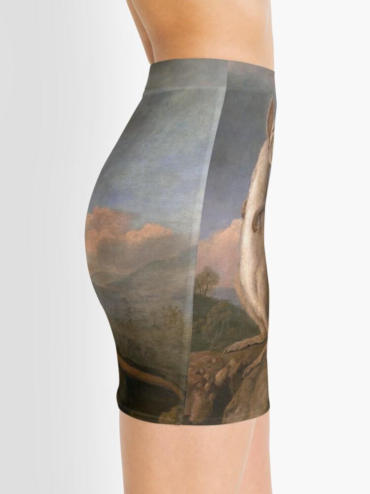 Alternate view of The Kongouro Oil Painting by Australian Artist George Stubbs Mini Skirt