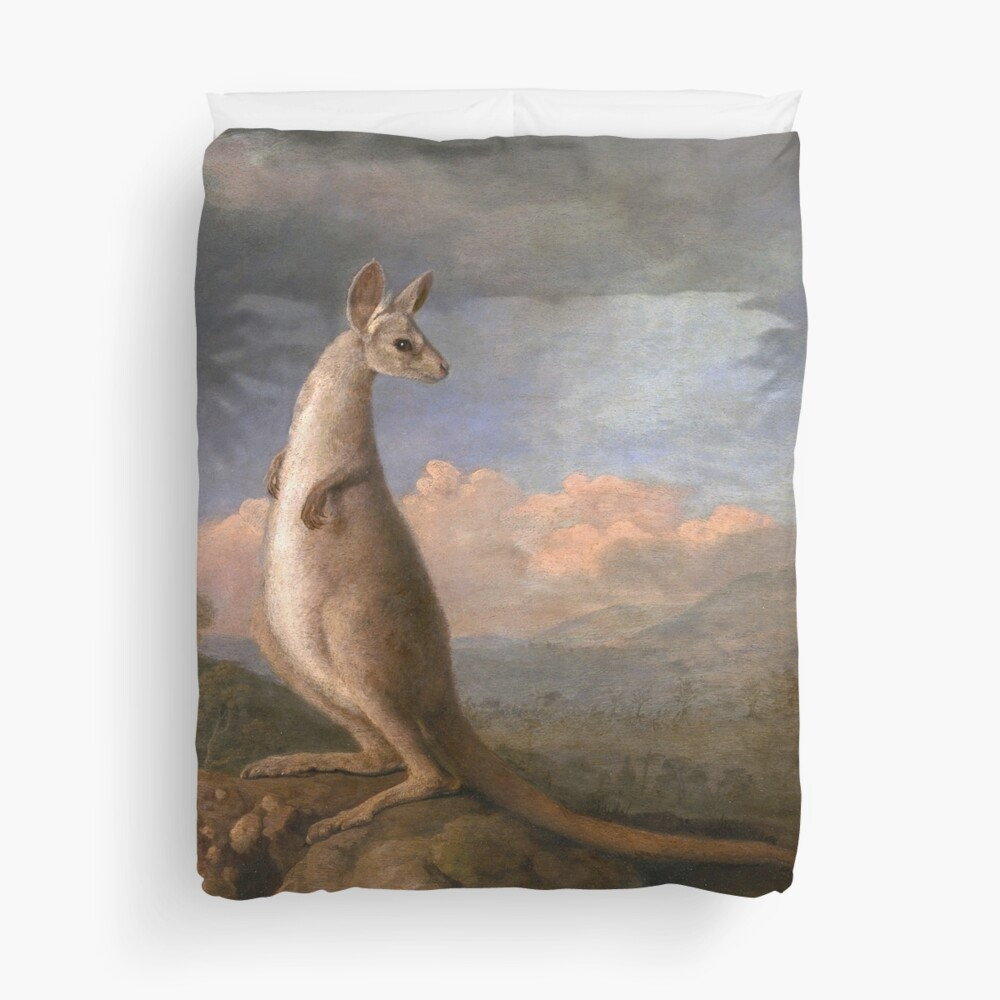 The Kongouro Oil Painting by Australian Artist George Stubbs Duvet Cover