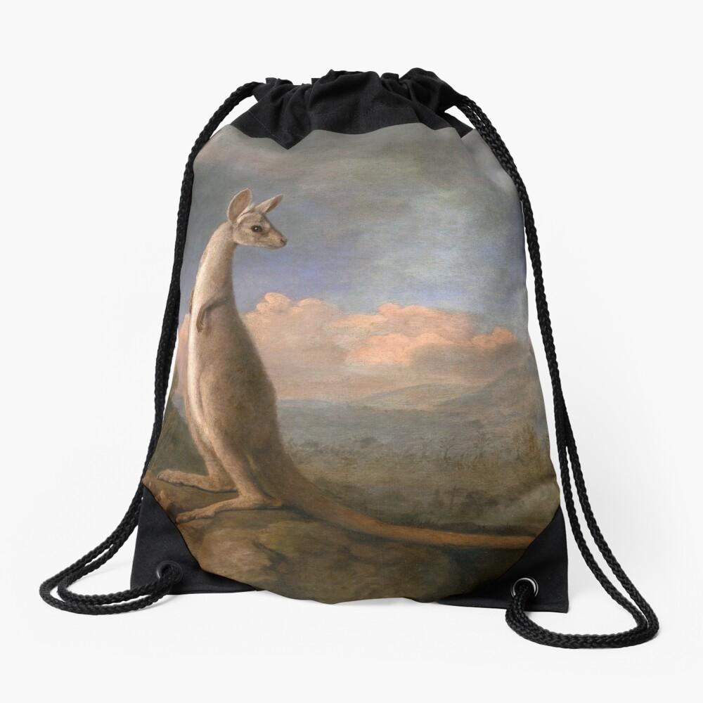 The Kongouro Oil Painting by Australian Artist George Stubbs Drawstring Bag