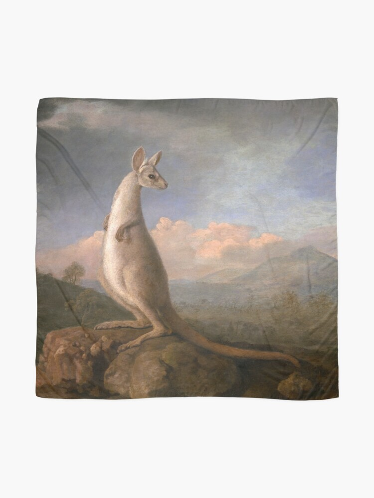 Alternate view of The Kongouro Oil Painting by Australian Artist George Stubbs Scarf