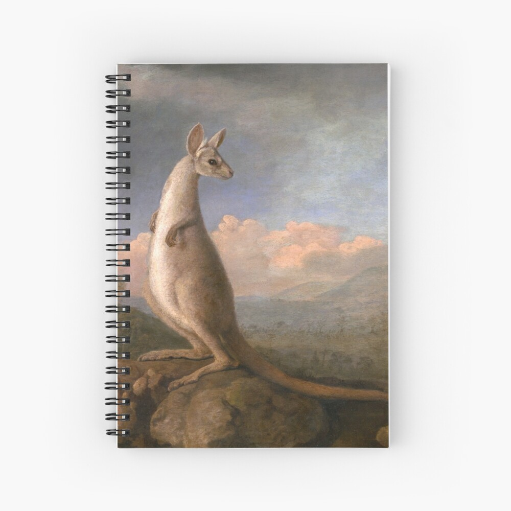 The Kongouro Oil Painting by Australian Artist George Stubbs Spiral Notebook