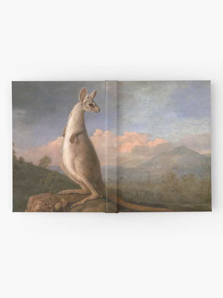 Alternate view of The Kongouro Oil Painting by Australian Artist George Stubbs Hardcover Journal