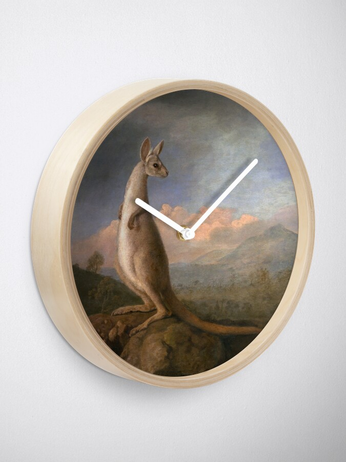 Alternate view of The Kongouro Oil Painting by Australian Artist George Stubbs Clock