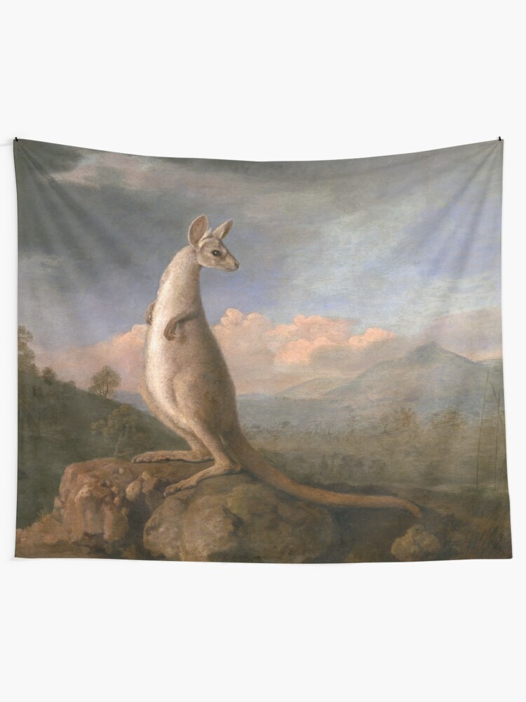 Alternate view of The Kongouro Oil Painting by Australian Artist George Stubbs Tapestry