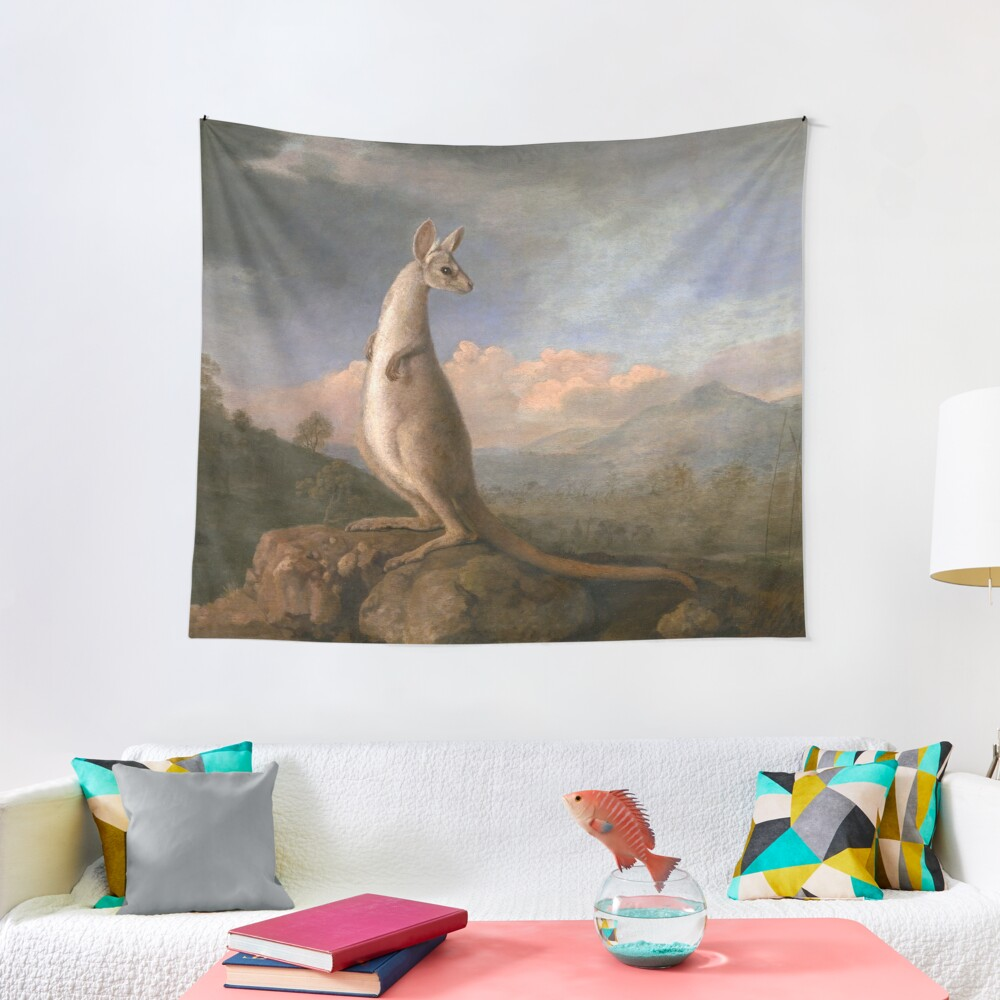 The Kongouro Oil Painting by Australian Artist George Stubbs Tapestry
