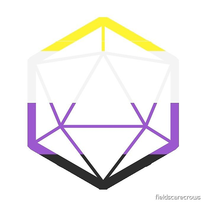 D20 Nonbinary flag by fieldscarecrows
