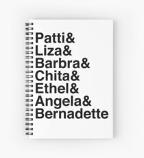 Broadway Divas (black) Spiral Notebook
