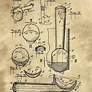 Ice Cream Scoop antique blueprint patent drawing 1939 kitchen art by Glimmersmith