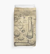 Ice Cream Scoop antique blueprint patent drawing 1939 kitchen art Duvet Cover