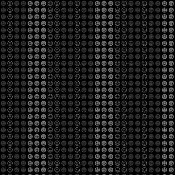 Dark Smiley Pattern by reymustdie