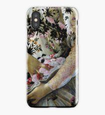 Botticelli Primavera closeup vintage painting iPhone Case