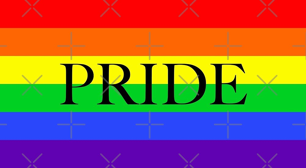 Large Pride Flag with Pride by litmusician