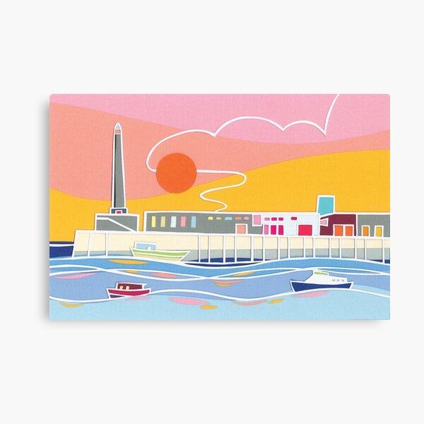 Margate Harbour Sunset Canvas Print