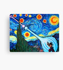 Van Gogh -ku / Goku Vs. Vegeta Dragon Ball Z Starry Night Canvas Print