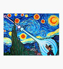 Van Gogh -ku / Goku Vs. Vegeta Dragon Ball Z Starry Night Photographic Print