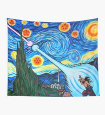 Van Gogh -ku / Goku Vs. Vegeta Dragon Ball Z Starry Night Wall Tapestry