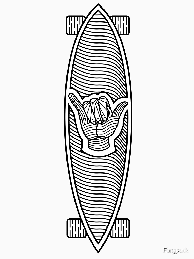 Longboard Skateboard Shaka by Fangpunk
