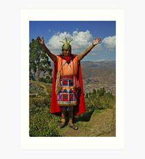 King of Incas Art Print