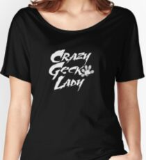 Camiseta ancha Crazy Gecko Lady