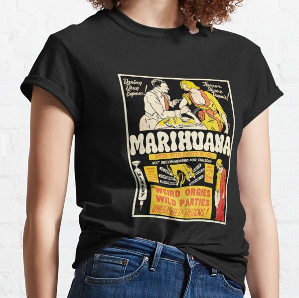 """Marihuana - weed with roots in hell."" Classic T-Shirt"