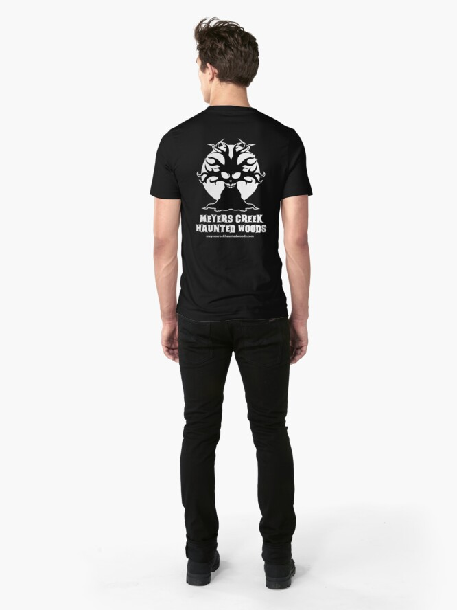Alternate view of Meyers Creek Haunted Woods Official T-Shirt Slim Fit T-Shirt
