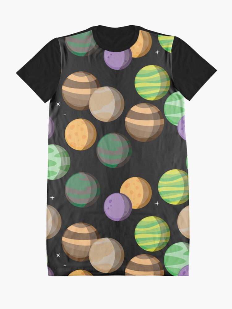 Vista alternativa de Vestido camiseta Siete Planetas. Patrón