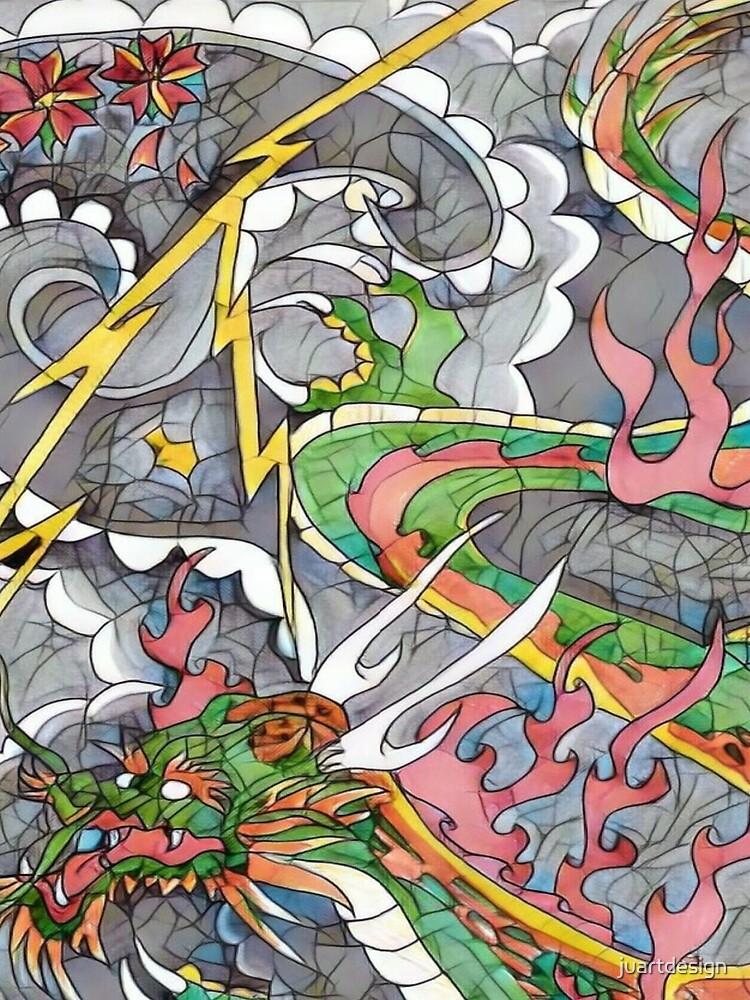 Dragon fire print  by juartdesign